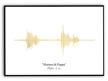 Ljudvågor - Guld, silver eller svart - A3 Guld Halvglansigt fotopapper