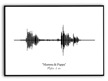 Ljudvågor - Guld, silver eller svart - A3 Svart Halvglansigt fotopapper