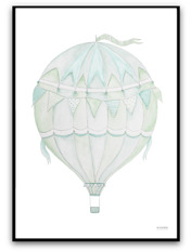 Green air balloon
