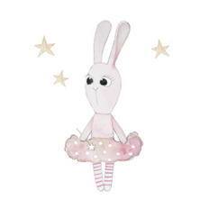 Wall stickers - Little ballerina bunny