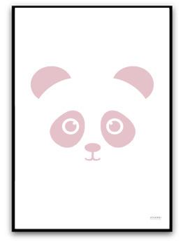 Poster - Panda - Rosa A4 matt fotopapper
