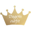 Krona - Dagens outfit - Guld 10cm