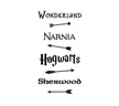 Wall stickers - Fairy Tale Road Sign - Vit