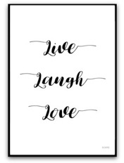 Poster - Live, laugh, love