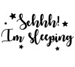 Wall stickers - Schhh! Im sleeping - Svart