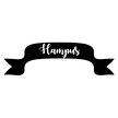 Wall stickers - Banderoll, välj eget namn - Typsnitt 2 Hot pink