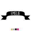 Wall stickers - Banderoll, välj eget namn - Typsnitt 1 Hot pink