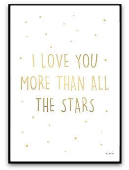 I love you more than all the stars - A4 matt fotopapper