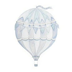 Wall stickers - Blue air balloon