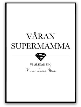 Våran supermamma - A5 matt fotopapper