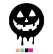 Wall stickers - Halloween stor pumpa - Svart
