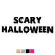 Wall stickers - Scary halloween - svart