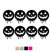 Wall stickers - Halloween pumpor - Svart
