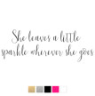 Wall stickers - She leaves a little.. - Svart