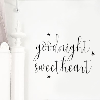 Wall stickers - Goodnight sweetheart - svart