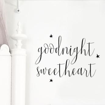 Wall stickers - Goodnight sweetheart - svart