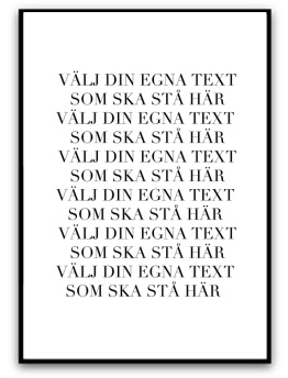 Poster - Egen text - A5 matt fotopapper