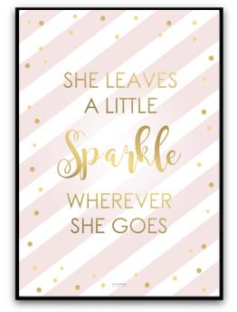 Poster - Sparkle - A5matt fotopapper