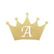 Wall stickers - Krona med egen bokstav till dockhus - Guld 5cm