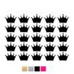 Wall stickers - Kronor till dockhus - svart