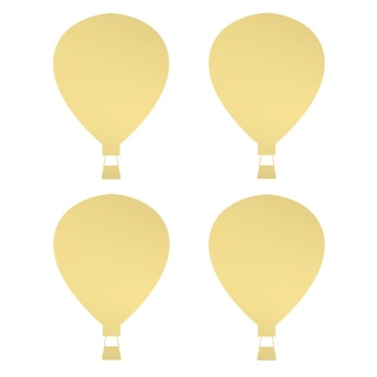 Wall stickers - Air balloon till dockhus - guld