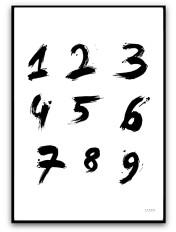 Poster - Siffror