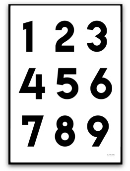 Poster - Siffror - A5matt fotopapper