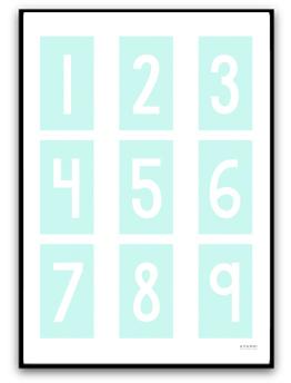 Poster - Siffror - A4 matt fotopapper