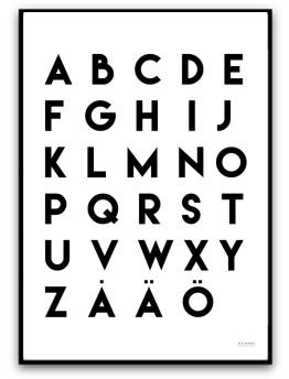 Poster - Alfabetet - A5 matt fotopapper