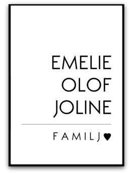 Poster - Familj - A5 matt fotopapper