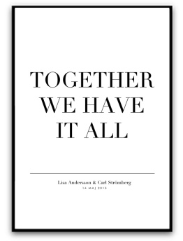 Parposter - Together.. - A5 matt fotopapper