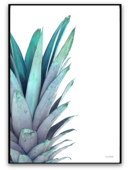 Poster - Ananas - A4 matt fotopapper Mint