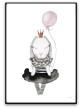 Poster - Little Luna bunny - A3 matt fotopapper