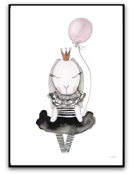 Poster - Little Luna bunny - A4 matt fotopapper