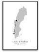 Poster - Kärlekskarta - A3 glansigt fotopapper (SVART)