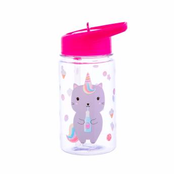 Vattenflaska - Katt enhörning -