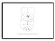 Målning tvillingar - Namn & födelsebild - A3 matt fotoapper ( liggande)