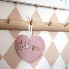 Träskylt hjärta - Mitt rum