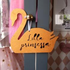 Träskylt guld - Lilla prinsessa