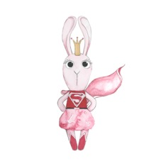 Wall stickers - Super bunny girl