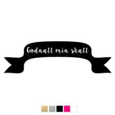 Wall stickers - Banderoll, Godnatt min skatt