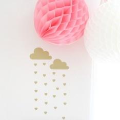 Wall stickers - Regnmoln med hjärtan