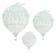 Wall stickers - Green air balloon