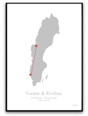 Poster - Kärlekskarta