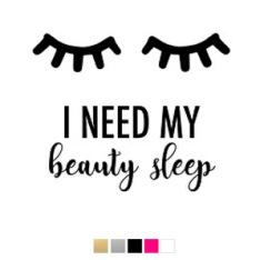 Wall stickers - I need my beauty sleep