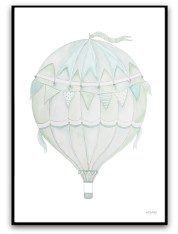 Green air balloon