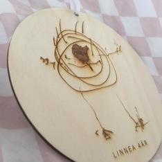 Träskylt - Egen barnteckning