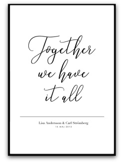 Parposter - Together.. - A4 matt fotopapper