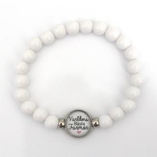 Världens bästa farmor - Vitt armband