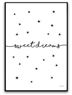 Sweet dreams - Svart matt fotopapper A4